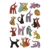 Herma 3337 DECOR Sticker - Abstrakte Katzen - 45 Sticker