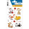 Herma 3357 DECOR Sticker - Lustige Katzen - beglimmert - 16 Sticker