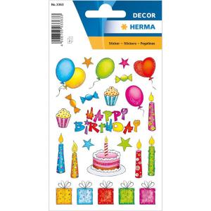 Herma 3363 DECOR Sticker - Geburtstag - beglimmert - 46...