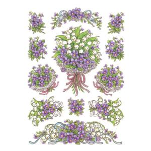 Herma 3378 DECOR Sticker - Blumenstrauß - violett -...
