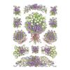 Herma 3378 DECOR Sticker - Blumenstrauß - violett - 36 Sticker