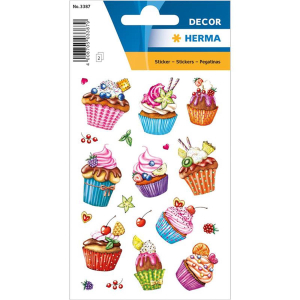 Herma Schmucketikett DECOR Cupcakes