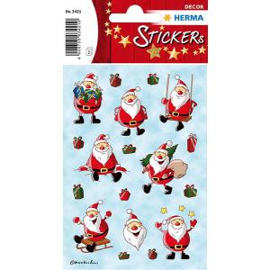 Herma 3421 DECOR Sticker - Weihnachtsmann - 24 Sticker