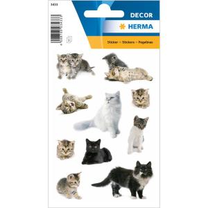 Herma 3433 DECOR Sticker - Katzenfotos - 30 Sticker
