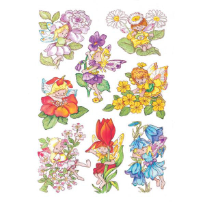 Herma 3478 DECOR Sticker - Blumenelfen - 24 Sticker