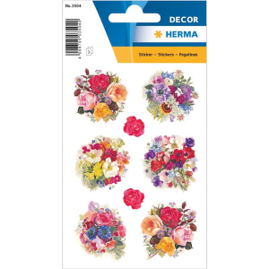 Herma 3504 DECOR Sticker - Blumenschmuck - 24 Sticker