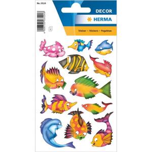 Herma 3524 DECOR Sticker - Bunte Fische - 36 Sticker