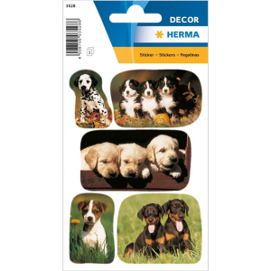Herma 3528 DECOR Sticker - Hundewelpenfotos - 15 Sticker