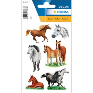 Herma 3553 DECOR Sticker - Pferderassen - 18 Stück
