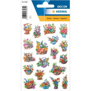 Herma 3584 DECOR Sticker - Blumen im Körbchen - 57...