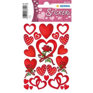 Herma 3619 DECOR Sticker - Herzen & Rosen - 66 Sticker