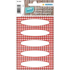 Herma 3639 HOME Küchenetiketten - Vichy-Karo - rot -...