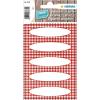 Herma 3639 HOME Küchenetiketten - Vichy-Karo - rot - 12 Stück