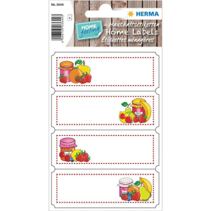 Herma 3644 HOME Küchenetiketten - Fruchtauswahl - 12...