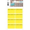 Herma 3771 HOME Tiefkühletiketten - Eiskristalle - gelb - 26 x 40 mm - 48 Stück
