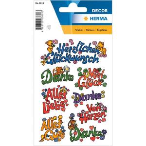Herma 3813 DECOR Sticker - Glückwünsche - 16...