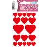 Herma 3827 DECOR Sticker - Herzen - rot - 54 Sticker