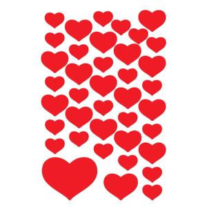 Herma 3841 DECOR Sticker - Kleine Herzen - rot - 120 Sticker