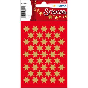 Herma 3903 DECOR Sticker - Sterne - sechszackig - gold -...