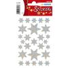 Herma 3917 DECOR Sticker - Sterne - sechszackig - silber - 27 Sticker