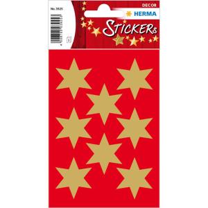 Herma 3925 DECOR Sticker - Sterne - sechszackig - gold -...