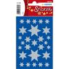 Herma 3928 DECOR Sticker - Sterne - sechszackig - silber - 81 Sticker