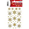 Herma 3948 DECOR Sticker - Sterne - sechszackig - silber - reliefgeprägt - 13 Sticker