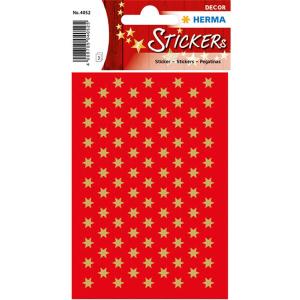 Herma 4052 DECOR Sticker - Sterne - sechszackig - gold -...