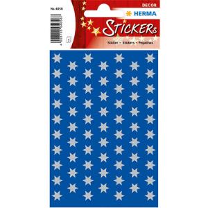 Herma 4058 DECOR Sticker - Sterne - sechszackig - silber...