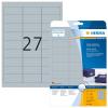 Herma 4098 SPECIAL Folienetiketten - DIN A4 - 63,5 x 29,6 mm - silber - glänzend - 675 Stück