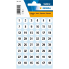 Herma 4124 VARIO Zahlen - Ø 12 mm - 1 bis 240 - Papier - weiß - schwarz - 240 Sticker