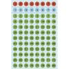 Herma 4129 VARIO Zahlen - Ø 8 mm - 1 bis 160 - Papier - farbig sortiert - 480 Sticker