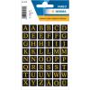 Herma 4130 VARIO Buchstaben - Ø 13 mm - A bis Z - schwarze Folie - gold geprägt - 96 Sticker