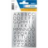 Herma 4133 VARIO Buchstaben - 13 x 12 mm - A bis Z - schwarz auf Silberfolie - 216 Sticker