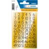 Herma 4146 VARIO Zahlen - 13 x 12 mm - 1 bis 100 - schwarz auf Goldfolie - 216 Sticker
