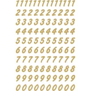 Herma 4151 VARIO Zahlen - Ø 8 mm - 0 bis 9 - gold...