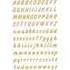 Herma 4152 VARIO Buchstaben - Ø 8 mm - A bis Z - gold - wetterfest - 238 Sticker