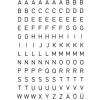 Herma 4154 VARIO Buchstaben - Ø 5 mm - A bis Z - schwarz - wetterfest - 240 Sticker