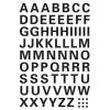 Herma 4158 VARIO Buchstaben - Ø 10 mm - A bis Z - schwarz  - wetterfest - 74 Sticker