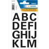 Herma 4167 VARIO Buchstaben - Ø 25 mm - A bis Z - schwarz - wetterfest - 30 Sticker