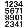 Herma 4168 VARIO Zahlen - Ø 25 mm - 0 bis 9 - schwarz - wetterfest - 32 Sticker
