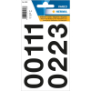 Herma 4189 VARIO Zahlen - Ø 33 mm - 0 bis 9 - schwarz - wetterfest - 18 Sticker