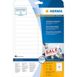 Herma 4209 SPECIAL Abdecketiketten - DIN A4 - 96 x 16,9 mm - weiß - 800 Stück
