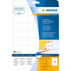 Herma 4227 SPECIAL Abdecketiketten - DIN A4 - 64,6 x 33,8 mm - weiß - 600 Stück