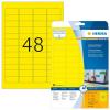 Herma 4366 SPECIAL Etiketten - DIN A4 - 45,7 x 21,2 mm - gelb - 960 Stück
