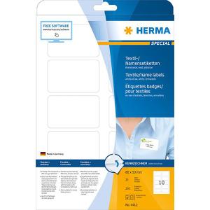 Herma 4412 VARIO Namensetiketten - DIN A4 - 80 x 50 mm - weiß - 250 Stück