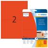 Herma 4497 SPECIAL Etiketten - DIN A4 - 199,6 x 143,5 mm - rot - 40 Stück