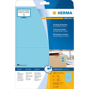 Herma 4498 SPECIAL Etiketten - DIN A4 - 199,6 x 143,5 mm - blau - 40 Stück