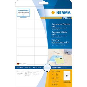 Herma 4681 SPECIAL Folien-Etiketten - DIN A4 - 66 x 33,8...
