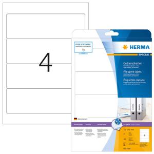 Herma 4826 SPECIAL Inkjet-Ordneretiketten - DIN A4 - 192...